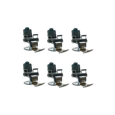 Jogo 6 Cadeiras De Barbeiro Xerife