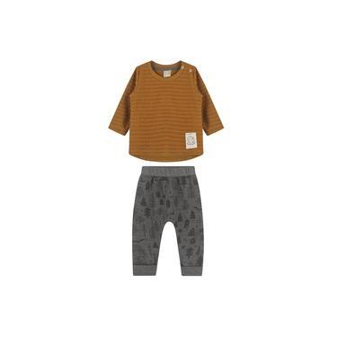 Conjunto Camiseta Malha Calça Moletom Felpado Colorittá Caramelo 1