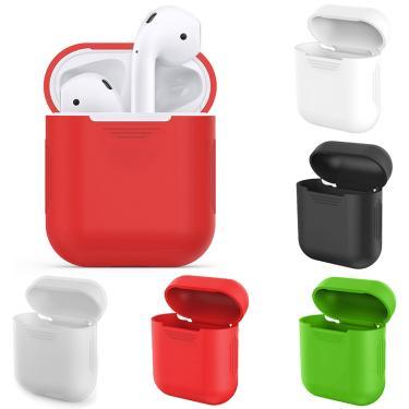 Multi-color silicone caso da pele para apple airpods prova protetor capa anti-perdido sem fio