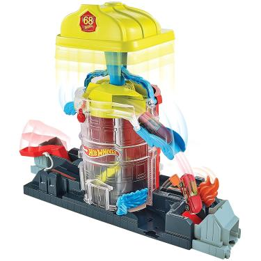 Imagem de Hot Wheels City Super City Fire House Rescue Play Set Tema Play Set Connection System Ages 3 Years to 8