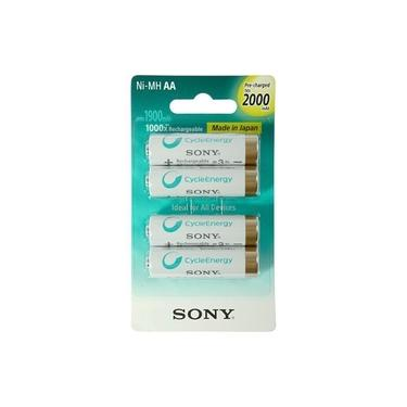Pilha Recarregável AA Sony NH-AA-B4KN 2000mAh 1.2V - 4 uni