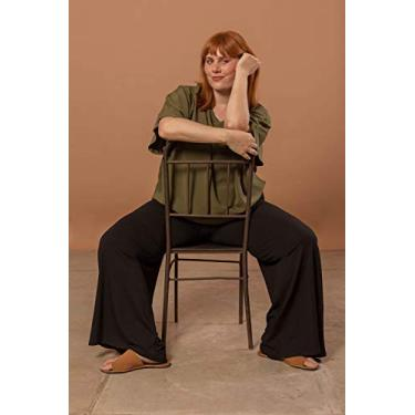 Calça Pantalona Plus Size Preto-50/52