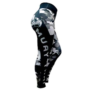 Imagem de Calça de Compressão Termica Legging Feminina - 2224 MA - Camuflado Urbano - M - Muay Thai