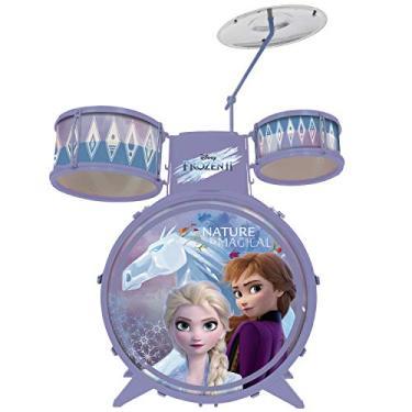 Imagem de Bateria Infantil Brinquedo Disney Frozen 2 Menina 4 a 6 Anos