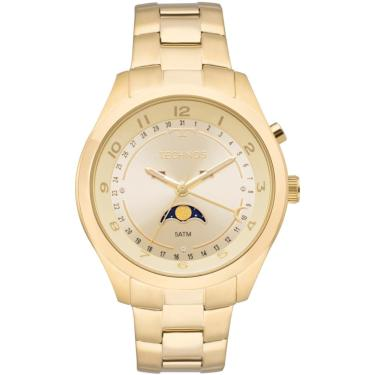 5b255cbb63b21 Relógio Calendário Lunar Technos 6P80AA 4X Dourado feminino