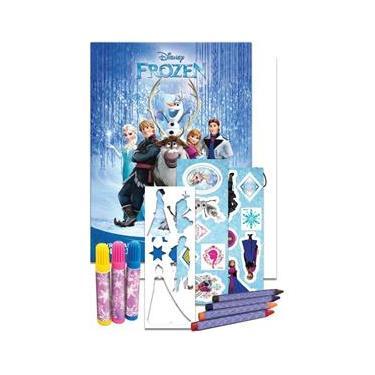 Imagem de Livro Infantil Colorir Frozen Tubo C/ADES/GIZ/CANETIN