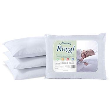 Imagem de Travesseiro Royal Baby Altenburg Travesseiro Branco Tecido Percal 180 Fios 100% Alg 114x62 Fio acabam/Recheio com 100g