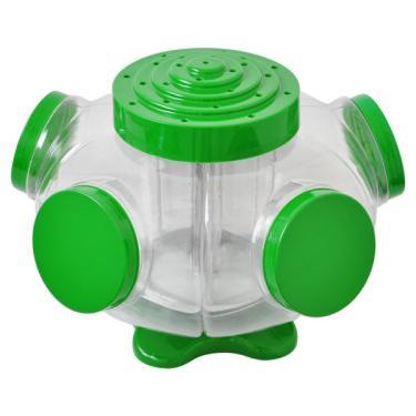 Baleiro giratorio 05 bocas Super Tok BGTT05 tampas verde PVC
