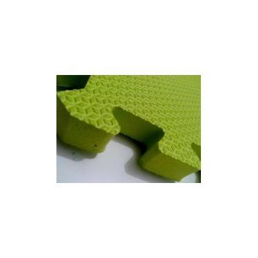 Tatame Tapete EVA Com Borda 50 X 50 X 3cm Verde Limão -