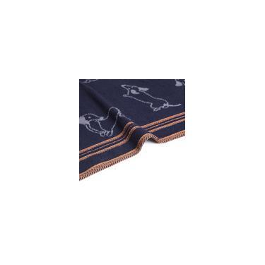 Imagem de Toalha de Rosto Jacquard Total Mix 100% Algodão Azul Naval Dog - Artex