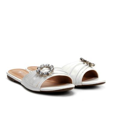 084398454 Sandália Rasteirinha Via Uno Branco | Moda e Acessórios | Comparar ...