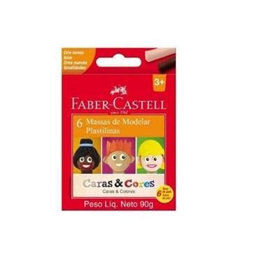 Imagem de Massa de Modelar Caras e Cores 6 Cores - Faber Castell