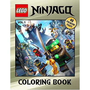 """Lego Ninjago Coloring Book Vol1: Interesting Coloring Book With 40 Images For Kids of all ages with your Favorite """"Lego Ninjago"""" Characters.: 2"""