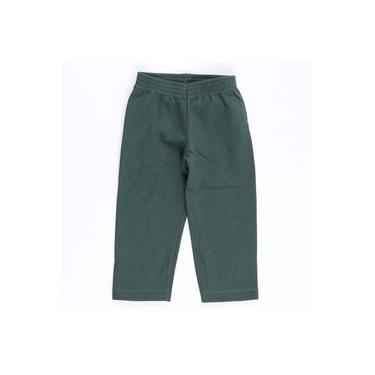 Calça Moletom Verde Militar Básica - Bicho Bagunça