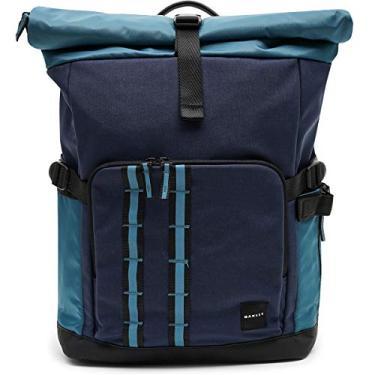 Imagem de Oakley Mochila masculina utilitária enrolada, Mochila enrolada utilitária, Azul nebuloso, One Size