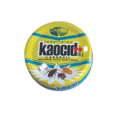 Inseticida Pó Kaocid Mata Formigas Pulgas e Baratas Lata 50gr