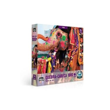 Imagem de Quebra-Cabeça 1000 Peças - Cores da Ásia - Índia - Toyster