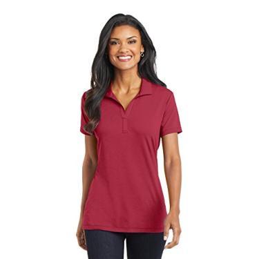 Camisa polo feminina Touch Performance Port Authority, Chili Red, XS