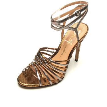 Sandália Luiza Barcelos Metalizada Bronze/Dourado Luiza Barcelos 10470199 feminino
