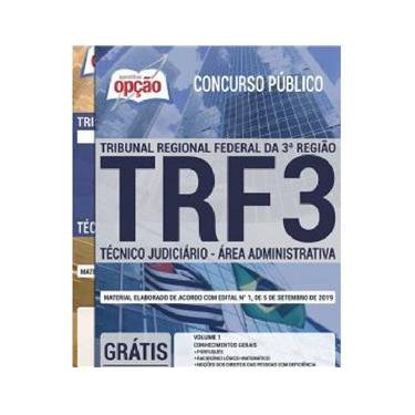 Imagem de Apostila TRF 3 SP MS Técnico Judiciário Área Administrativa