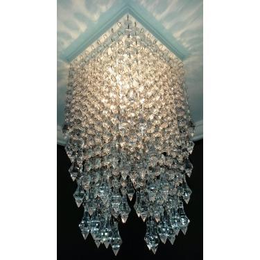 Plafon lustre de cristal acrílico modelo veneza