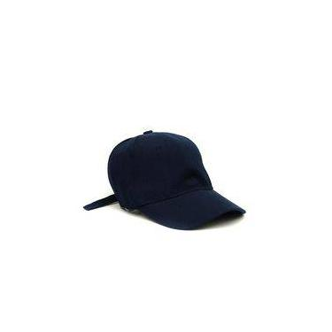 Boné Aba Curva Azul Marinho Liso