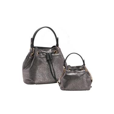 Bolsa Feminina Chenson Bucket Bag Prata Cg 82716 - Bolsa Saco