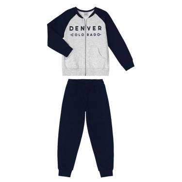 Conjunto Infantil Jaqueta Com Calça Rovitex Kids Azul 10