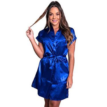 Imagem de Hobby Feminino Noiva Roupão Cetim Personalizado Robe