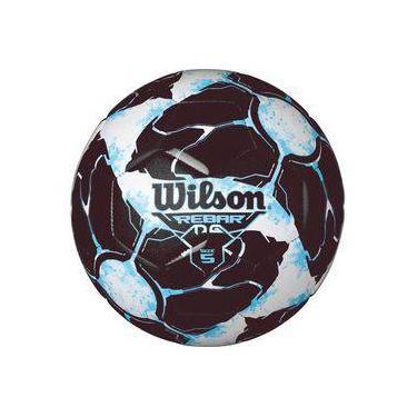Bola de futebol de campo Rebar Ng N.5 Azul Preto Wilson 4739902b883d2