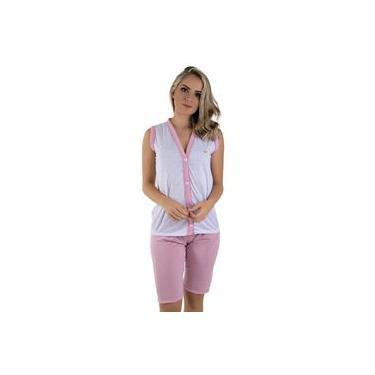 Pijama Feminino Pescador Rosa