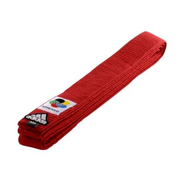 Faixa De Graduação Karatê Elite Wkf Vermelho Adidas
