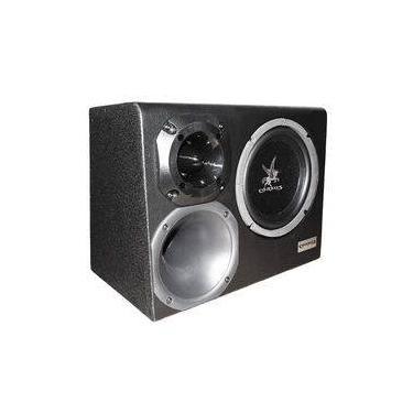 Caixa Som Automotivo Amplificada Trio 8 300w Rms Corzus Cxt300-8 Com Módulo Completa
