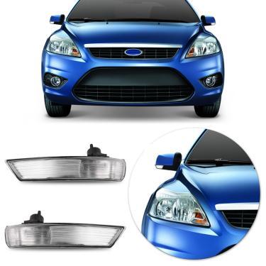 Pisca Retrovisor Ford Focus Hatch Sedan 2008 2009 2010 2011 2012 2013 Cristal Lado Esquerdo Motorista