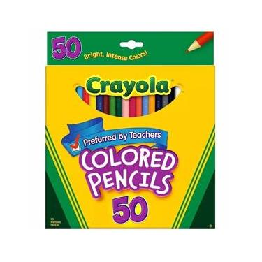 Lápis de Cor 50 Cores Crayola