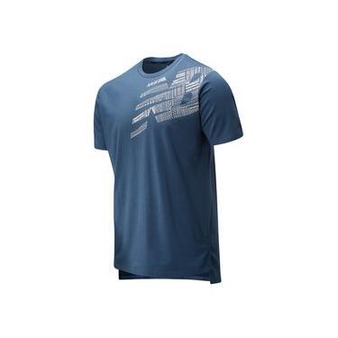 Camiseta de Manga Curta Estampada R.W.T. Heathertech | Masculino Azul - P