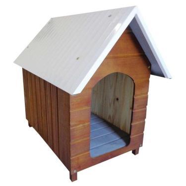 Casinha Para Cachorro Telhado Galvanizado Grande Cerejeira