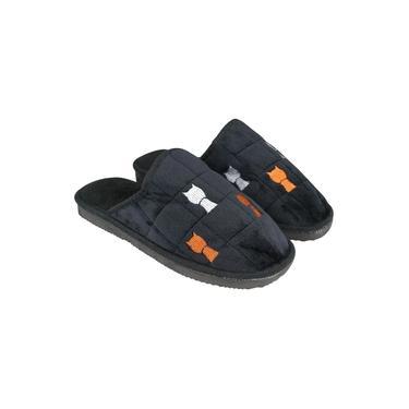 pantufas masculinas Adulto Bordados da moda Fundo grosso antiderrapagem quente Sapatos de família Chinelos de pelúcia menino