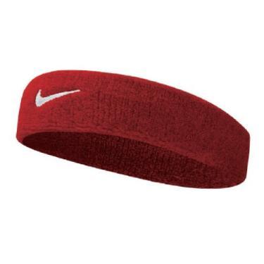 Testeira Swoosh Headband Adulto Nike Versaty Red/White