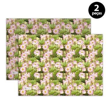 Imagem de Jogo Americano Mdecore Floral 40x28 cm Verde 2pçs