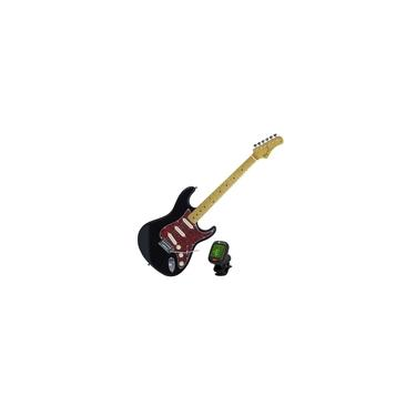 Imagem de Guitarra Tagima TG-530 Woodstock Single Coils Preta + Afinador Nucleo