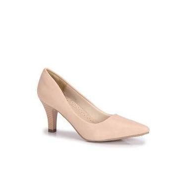 9a20d6354e Sapato Scarpin Salto Fino Facinelli - Bege