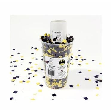 Imagem de Kit Lança Confetes Tema Batman Seda Biodegradável No Copo 50G - Faz 90