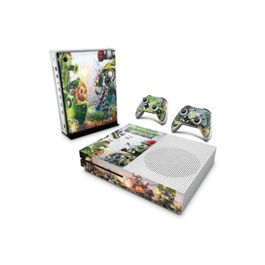 Skin Adesivo para Xbox One Slim - Plants Vs Zombies Garden Warfare