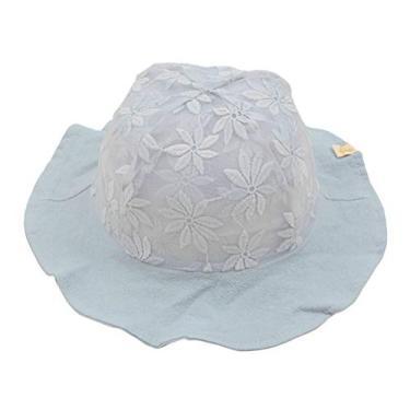 Chapéu de sol casual de renda com flores, chapéu de pescador, chapéu de verão para bebês (cinza)