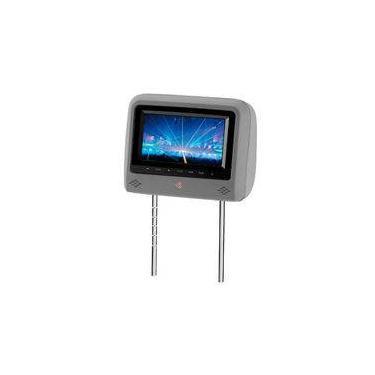 Encosto De Cabeça Kx3 Cinza Monitor Botões Touch Lcd 7 Pol