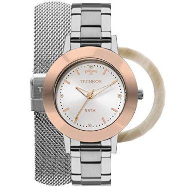 Relógio Feminino 2035MLK T1K Technos Analígico Troca Pulseiras e Aros 539da2fe0a
