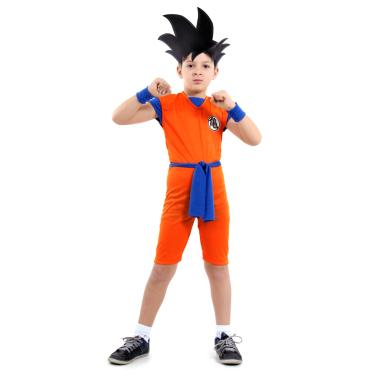 Fantasia Goku Curto Infantil - Dragon Ball Z P