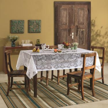 Imagem de toalha mesa lepper retangular renda realeza