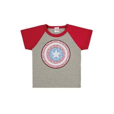 Camiseta Capitão América Cinza -Baby - Marlan